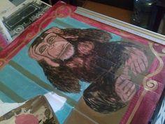 circus monkey close-up. work in progress.
