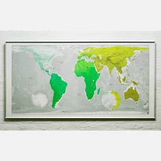 Future Mapping Map 77x39 Emerald, $62, now featured on Fab.