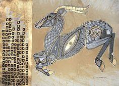 Abstract Impala / Gazelle / Animal Art Print by Lynnette Shelley