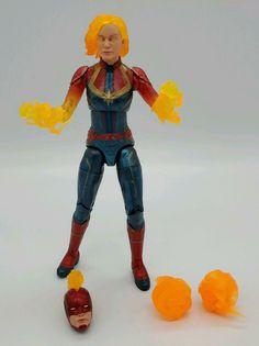 "Marvel Legends 6/"" CAPTAIN MARVEL BINARY FORM Carol Danvers Walmart Exc In Hand"