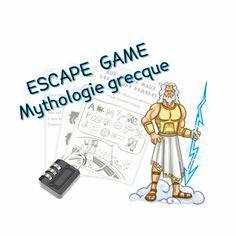 Escape Game : Mythologie grecque Teaching Latin, Teaching Ideas, Breakout Edu, School Organisation, Mystery Games, Game Themes, Cycle 3, Math Art, Dramatic Play