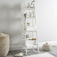 Bathroom Ladder Shelf | The White Company UK