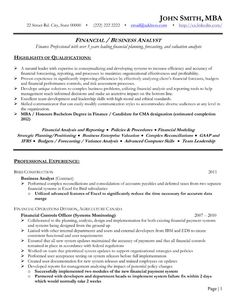 click here to download this financial analyst resume template httpwww - Sample Financial Analyst Resume