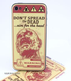 Don't Spread the Dead iPhone 4 iPhone 4s Skin by killerduckdecals, $6.00