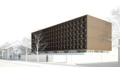 Ganadores Concurso Edificio Docente y de Investigación Escuela de Arquitectura UC,Courtesy of Equipo Tercer Lugar