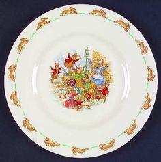 Royal Doulton Bunnykins (Albion Shape) Salad Plate, Fine China Dinnerware by Royal Doulton. $25.99. Royal Doulton - Royal Doulton Bunnykins (Albion Shape) Salad Plate - Albion Shape, Rabbit Scenes