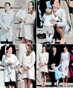 readingroyalty:  King Carl Gustaf's 69th birthday celebration, April 30, 2015-Sofia Hellqvist, Princess Madeleine, Princess Leonore, Prince Daniel, Crown Princess Victoria, Princess Estelle, Queen Silvia
