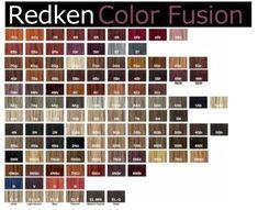 Redken hair color chart