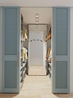Venetian sliding doors for closet House Design, House Rooms, Home Room Design, House, Bedroom Interior, Home, Closet Decor, Dressing Room Design, Walk In Closet Design