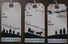 Sleigh Ride Christmas gift tags