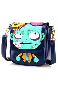 Zombie Color Block Shoulder Bag | OASAP