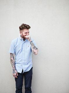 tattooed shirted men #ilike :)