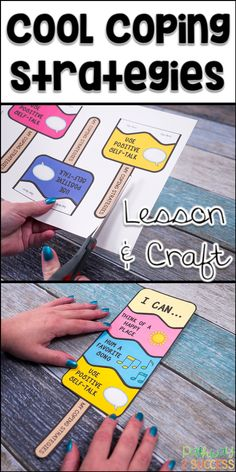 Teach coping strategies with a fun and interactive ice pop craft! Kids learn about coping strategies and then create their own pop that illustrates the strategies they want to try. Perfect for small groups to teach skills to manage emotions. Social Work Activities, Coping Skills Activities, Counseling Activities, Therapy Activities, Therapy Games, Elementary School Counseling, School Social Work, School Counselor, Homeschool Kindergarten
