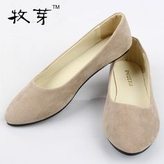 With box Free shipping fur Upgrade qualit Women's Ballets Flats shoes fake suede ladies ballet shoe casual mother shoes C3