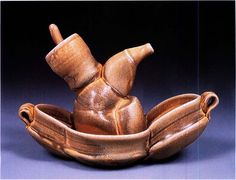 This ewer with tray was created by David Mark DeLaitsch from Houston, Texas. DeLaitsch was a 2002 Emerging Artist.
