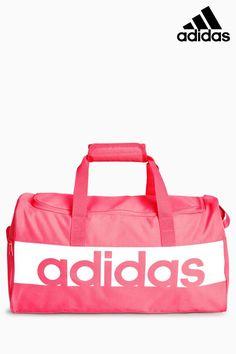 bd2bd5fb1ba Mens adidas Pink Linear Duffle Bag - Pink Pink Duffle Bag, Pink Adidas,  Adidas