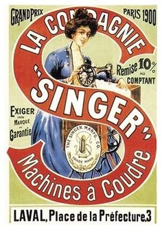 """La Compagnie Singer, Grand Prix 1900- Paper Poster 12"""" x 18"""" traditional-prints-and-posters"""