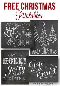 Printable Christmas Labels Tags and Labels FREE on the blog ...