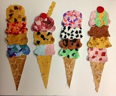 Summer Crafts For Kids, Paper Crafts For Kids, Summer Art, Projects For Kids, Art For Kids, Arts And Crafts, Seaside Art, Kindergarten Art Projects, Jr Art