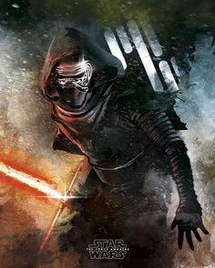 Kylo Ren from Star Wars: The Force Awakens tribute poster by Jose Angel Trancon