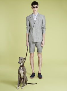 Blue Flecked Skinny suit with Shorts, Topman SS13 Suits http://tpmn.co/ZrQxP3