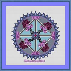 Mandala Equinox Spring - digital crossstitch embroidery pattern pdf - 167 x 167 cross stitches - 30 x 30 cm or 12 x 12 inches - created by Droomcreaties Design & Foto Studio (www.droomcreaties.nl)