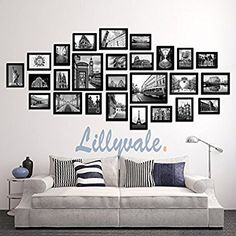 Details about Large Multi Picture Photo Frames Wall Set Art Deco Home Picture 23 of 28 Frame Wall Collage, Photo Wall Collage, Framed Wall Art, Collage Picture Frames, Collage Ideas, Picture Frame Walls, Photo Wall Displays, Picture Frames On Wall, Wall Of Frames