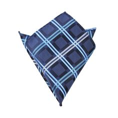 Blue X - Pocket Square by OTAA | Mens Suit Hanky Handkerchief | www.otaa.com.au