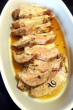 Rôti de porc mariné à la cocotte - du pain sur la planche.....ou nourrir sa tribu