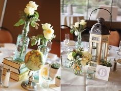 Bottle bud vase centerpieces | Kacy Hughes Photography  | Arizona Bride Magazine