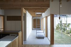 # House is a minimal home located in Osaka, Japan, designed by ninkipen!.