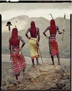 The Samburu tribe in Kenya