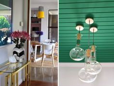 Cush and Nooks: Bibby + Brady Hamilton Home | part two... love this light idea and the side table