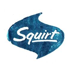 Squirt Vintage logo cuts printed on proof press Typography Letters, Typography Logo, Graphic Design Typography, Lettering Design, Logo Design, Monospace, Naughty Quotes, Retro Font, Vintage Type
