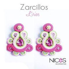 soutache Soutache Earrings, Crochet Earrings, Shibori, Fashion Earrings, Origami, Jewlery, Diy Crafts, Pretty, Instagram Posts