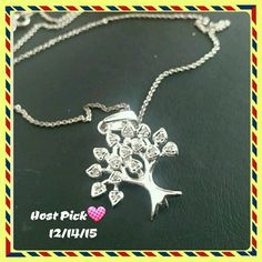 HP ?? Life of tree necklace High polished very shiny 925 sterling silver necklace with 18 inches sterling silver chain. Brand new. 925 stamped. I offer %10 off bundle discount for 3 or more items ?? Jewelry Necklaces