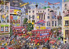 Jigsaw GibsonsI Love London by Mike Jupp-1000pc Jigsaw