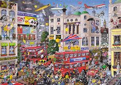 Jigsaw Gibsons I Love London by Mike Jupp-1000pc Jigsaw