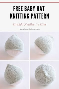 Make a simple cotton baby hat with this easy free knitting pattern. Great for any beginners this hat can be made in three sizes. hats for women patterns Free baby hat knitting pattern Baby Hat Knitting Patterns Free, Baby Hat Patterns, Baby Hats Knitting, Easy Knitting, Knitting Toys, Free Pattern, Knitted Baby Beanies, Knitted Hats Kids, Knit Hats