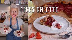 Ide süss! Violetta - Epres-mandulás galette | Mindmegette.hu French Toast, Sweets, Breakfast, Food, Youtube, Morning Coffee, Good Stocking Stuffers, Candy, Eten