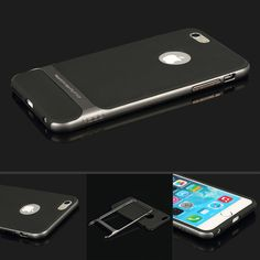 iPhone 6 Plus Case | Slim Grey Hard Bumper Shockproof  New! Free Shipping in the US!