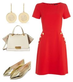 """Moms' Coffee"" by arta13 on Polyvore featuring Tahari by Arthur S. Levine, Topshop, Jennifer Meyer Jewelry and ZAC Zac Posen"