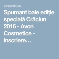 Spumant baie ediție specială Crăciun 2016 - Avon Cosmetice - Inscriere…