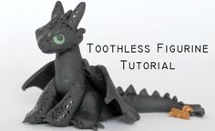 Polymer Clay: Toothless Dragon from How To Train Your Dragon - Hobbies paining body for kids and adult Toothless Cake, Toothless Dragon, How To Train Your, How Train Your Dragon, Clay Projects, Clay Crafts, Make A Dragon, Clay Dragon, Toddler Birthday Cakes
