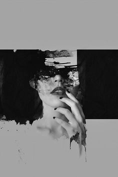 Philippine artist Janus Miralles makes very beautiful abstract portraits by mixing photography and paint as a way to create. Often in black and white, faces are erased with a certain darkness, as if they were burnt. Mixed Media Photography, Abstract Photography, Portrait Photography, Photography Collage, Black Photography, Fashion Photography, Kunst Online, Photo D Art, Photocollage