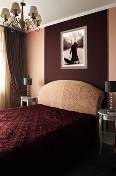 Our bedroom for Black and burgundy bedroom ideas