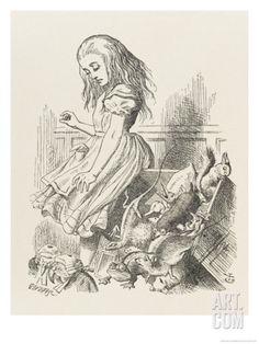 Alice Upsets the Jury Giclee Print by John Tenniel at Art.com