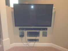 Very Sleek Flat Screen Mounting www.sjpnetwork.com