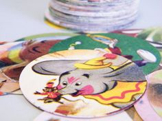 Punch outs from old story books. Could be used in a variety of decorating ways.
