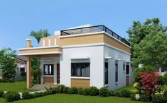 In this chance i will discuss with you about one storey house with roof deck that you can choose to built your dream home, With the skyrocke. Green House Design, Simple House Design, Modern House Design, Deck Design, Best House Plans, Modern House Plans, Small House Plans, Bungalow Haus Design, Modern Bungalow House
